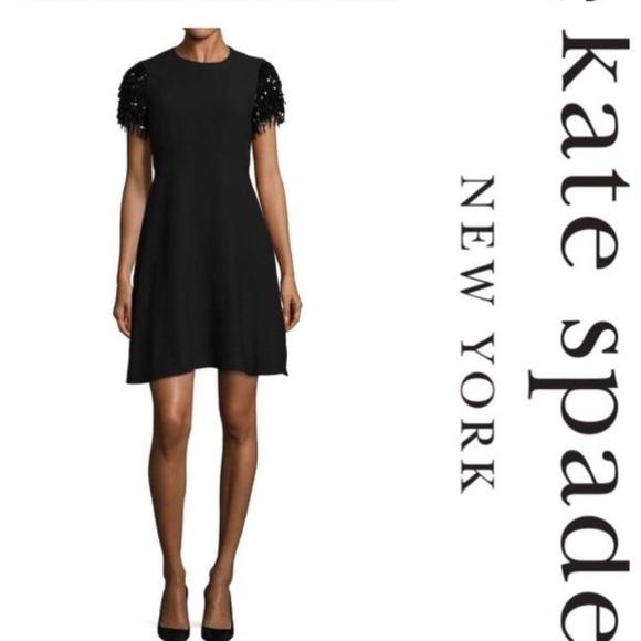 kate spade Dresses & Skirts - Kate Spade Sequin Sleeve Dress 8